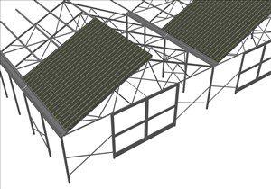 Serra fotovoltaica doppia falda simmetrica